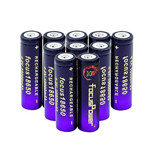 Batería de iones de litio de 3,7 V, 10000 mAh, 18650, baterías de botón, celdas de repuesto para radio Power Bank 10 unidades