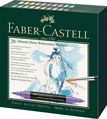 Faber-Castell Albrecht Durer Artists' Watercolor Markers – 20 Assorted Colors – Multipurpose Art Markers …