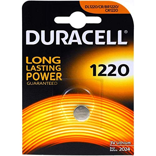Pila de botón de litio Duracell CR1220 1er Blister, 3V, Lithium