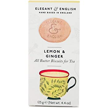 Artisan Biscuits Elegant and English Lemon and Ginger All Butter Biscuits, 125 g