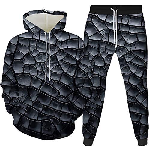Generice Ropa deportiva para hombre traje de trote pantalones tops traje deportivo casual