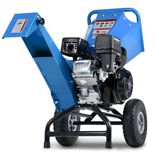 """Landworks Wood Chipper Shredder Mulcher Heavy Duty Compact Rotor Assembly Design 3"""" Inch Max Capacity"""