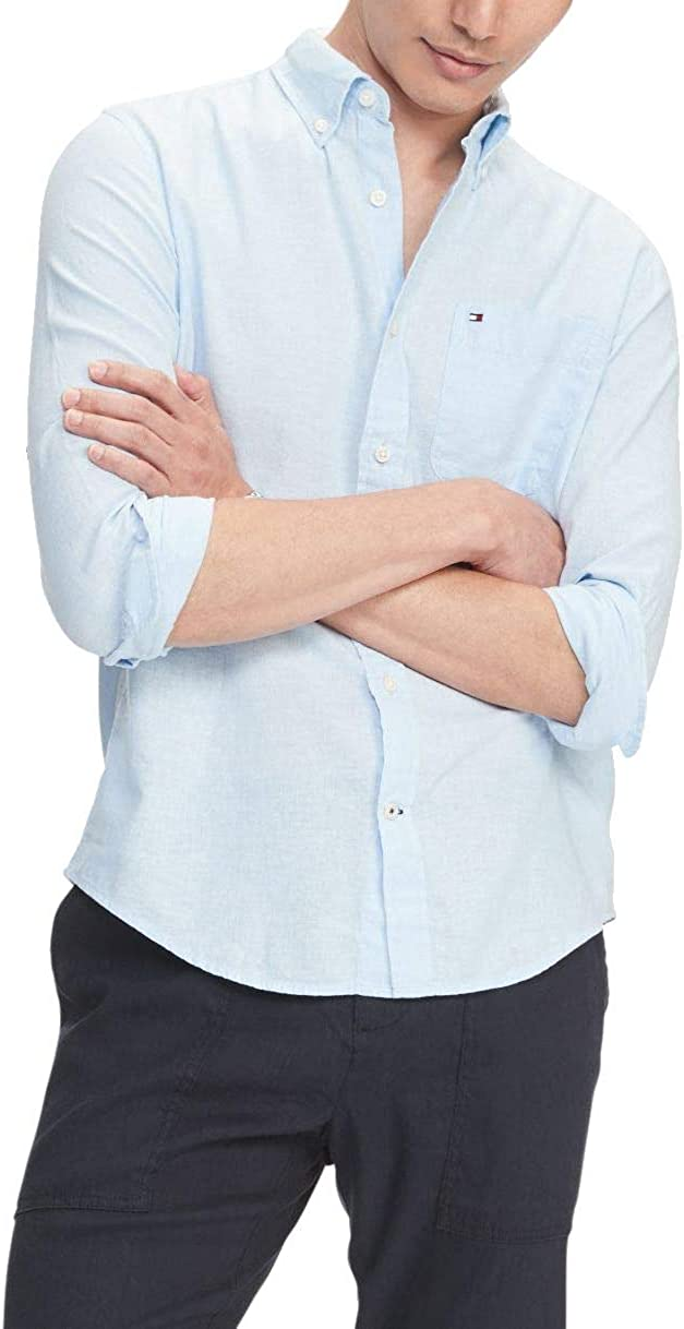 Tommy Hilfiger Men's Fixed price for sale Linen Long Sleeve Shirt Clas in Max 47% OFF Button Down
