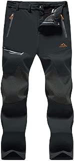 MAGCOMSEN Men's Hiking Pants Water Resistant 4 Zip Pockets Reinforced Knees Lightweight and Thick Fleece Lined Ski Pants