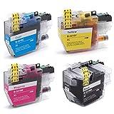 vhbw 4X Cartucho de Tinta con Chip XL para Brother MFC-J6535, MFC-J6730DW, MFC-J6930DW, MFC-J6935DW - Set de Cartuchos de Impresora