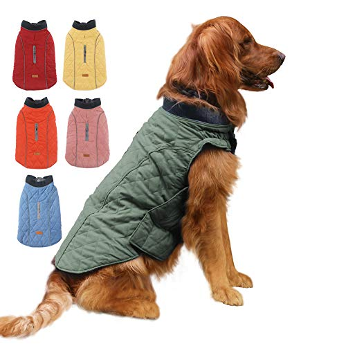 EMUST Dog Jackets for Winter, Cold Weather Coats for Dogs, Soft Winter Jackets for Medium Large Dogs, Dog Winter Vest for Small Medium Large Dogs, L