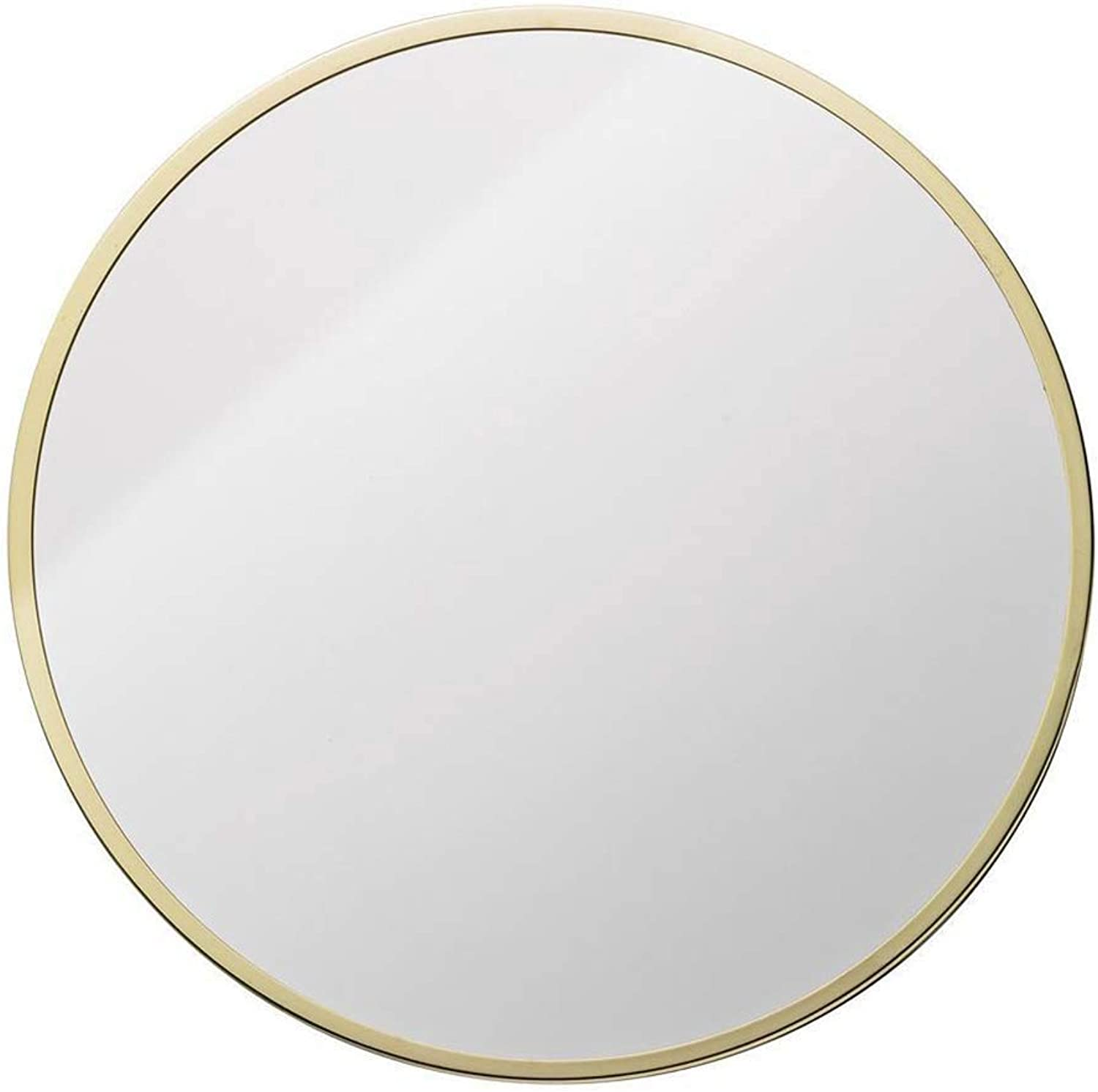 GXFC Contemporary Mirror - Round Wall Mounted Bathroom Vanity Mirror, Home Bedroom Metal Frame, Nordic Minimalist Style