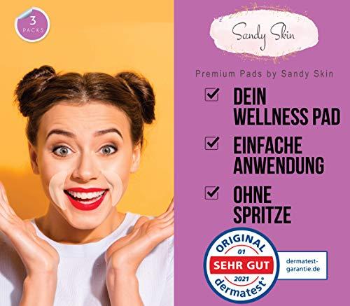 2in1 Sandy Skin® | 2x Gesicht Pads Mund und Lach & Oberlippen + 1 x GRATIS Mundpads I Wiederverwendbare Pads Faltenreduktion I Mund und Lachfalten Reduktion