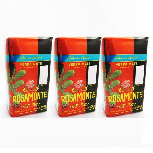 Yerba Mate Rosamonte Seleccion Especial x 3 KG Argentina Tea Loose Herbal Leaf by Rosamonte