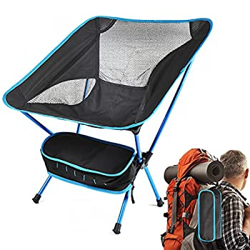 Chaise de camping portable compacte ultralégère, pliable, très résistante, Chaises pliantes de camping avec sac de transport ?pour la pêche, la randonnée, la plage(Charge de Poids 210kg)