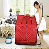 Sunshine Stylish Portable Therapeutic Steam Sauna Bath Home Spa Weight Lose Home Cleaning Kit for Men and Women (Red)