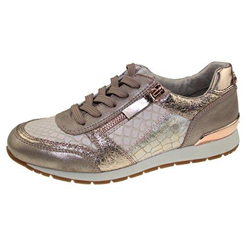 TOM TAILOR für Frauen Schuhe Sneaker im Materialmix Rose-Gold, 39