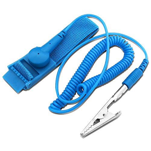 Anti Static Wrists Strap, Professional ESD Wrists Band with Grounding Bracelet, Eliminate Static Electricity from The Human Body When Building PC, Replacing Computer Accessories