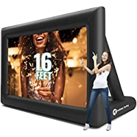 Holiday Styling Inflatable Outdoor Movie Projector Screens 200 Inch Blow Up for TV & Movies, Portable, Front & Rear Projection