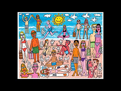 Stick It On Your Wall James Rizzi Mini-Poster Hot and Fun In The Summertime, 40 x 40 cm