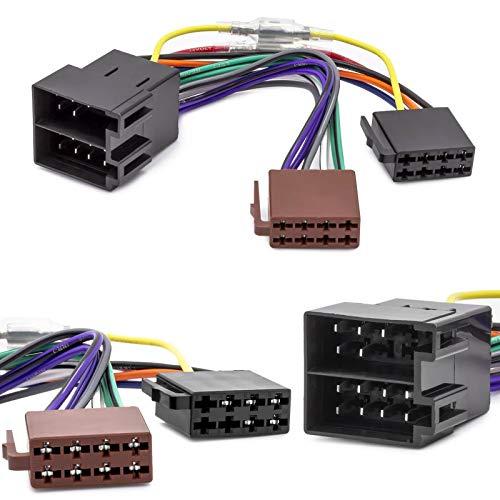 Auto Radio Adapter Kabel ISO Stecker Buchse Remote Kompatibel mit Opel Astra F G Corsa B C