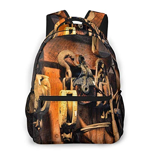 Lawenp Multifunctional Casual Backpack,Fashion Trend Knapsack,Cute Backpack11.5 X 16'''' X 8'''' Nautical Boat Block and Tackle