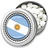 FAN Mint | 3er Set Pfefferminz Bonbons mit Argentinien Flagge | Geschenk, Souvenir Argentinien Fahne | Bonbon-Dose, Fan-Artikel, Party Deko (Argentinien)