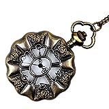 TOOGOO Reloj De Bolsillo Blanco Hoja De Loto Grande Viento De Palacio Retro Suministro Reloj Antiguo De Moda