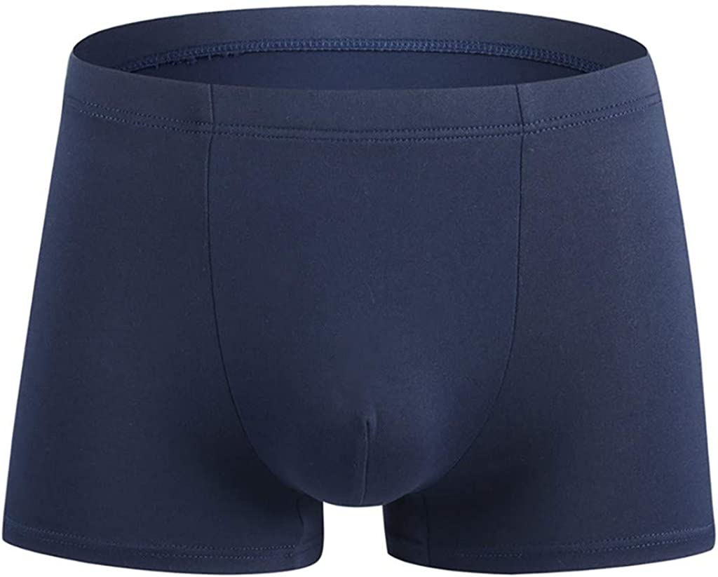 GREFER-Mens Mens Underwear Boxer Briefs Solid Sports Shorts Soft Mid Rise Underpants Knickers