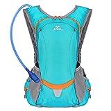 SKL Mochila de hidratación con vejiga de agua de 2 litros, mochila de depósitos de agua para senderismo al aire libre, ciclismo, camping, escalada
