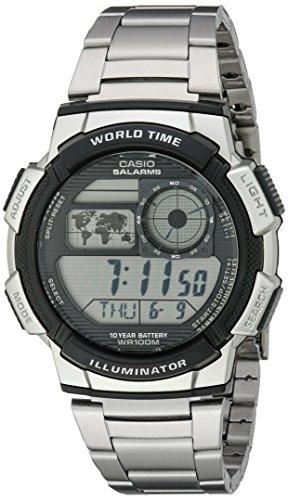 Casio AE1000WD-1AVCF - Reloj de Pulsera Hombre Deportes, Acero Inoxidable, Color Plata