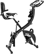 PEXMOR Foldable Exercise Bike, 3 in 1 Magnetic Resistance Upright Bicycle, Folding Stationary Bike for Cardio Workout & Strength Training Fitness (300 Lb Capacity)