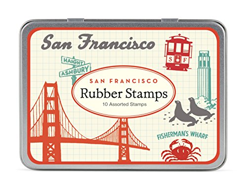 Cavallini Papers & Co., Inc. STSET/VINSF Vintage San Francisco Stempelset Vintage San Francisco Gummi Stempelset