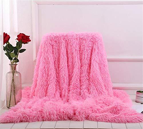 SWECOMZE Kuscheldecke Decke für Kinder, Flauschig Weiche Decke Haustier Bett Stuhl Sofa (Pink, 160 * 200cm)
