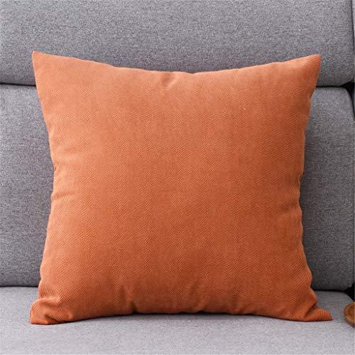 Kussen | 4 maten 7 kleuren – vierkant kussen van linnen sierkussen – ideaal voor gebruik op de bank 45 * 45cm Oranje