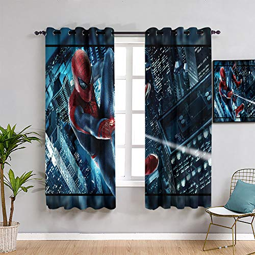 The Avengers curtainsSpider man movie art pattern curtains,54'x72' Spider man Curtains for living room,rod pocket drapes Thermal Insulated Panels home décor