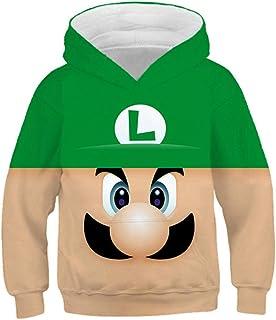 hhalibaba Juego clásico de Dibujos Animados Super Mario Bros Ropa Sudadera con Capucha para niños Bebés Hiphop Streetwear ...