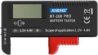 POPETPOP Portable Digital Battery Checker Battery Tester for 1.2-4.8v 18650 AA AAA CR2032