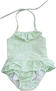 Baby Girls Seersucker One Piece Swimsuit Toddler Bathing Suit