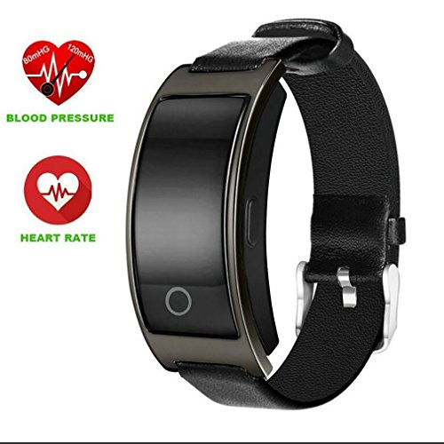 LL-Armband-Blutdruck-Uhr-Blut-Sauerstoff-Pulsmesser-intelligentes Armband-Pedometer IP67 wasserdichtes Smartband, Black