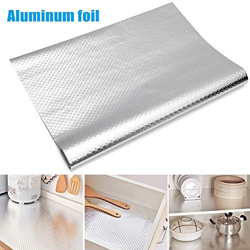 LYTEDB Keukenwanden Aluminiumfolie olievaste sticker anti-fouling hoge temperatuur zelfklevende Croppable Muursticker 40 * 100 cm