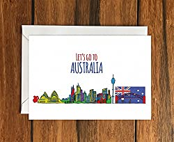 Let's Go to Australia Greeting Card