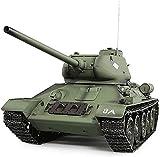 1/16 Scala Ejército Tanque de control remoto Modelo RC Versión del tanque fuera de carretera Truck Electric - Terreno Terreno a prueba de agua Camiones para niños 2.4g Radio Soviet TAJO DE RC T34 / 35