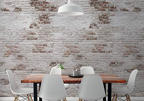HXA DECO - Papel pintado no tejido, Zen, Decoración de paredes, Trompe l'oeil, The Brick Wall - Rollo 0,53x8,4 m