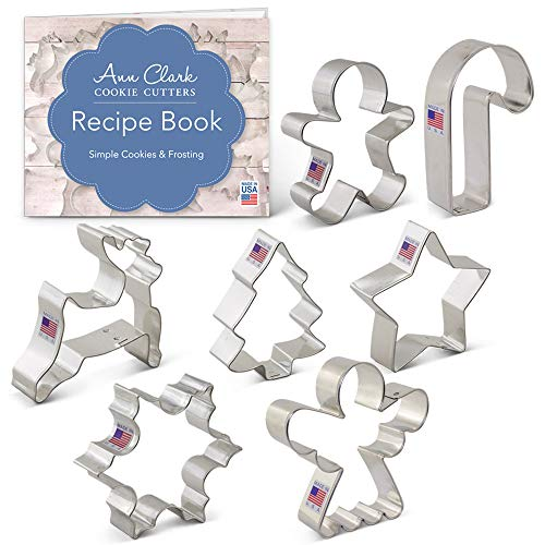 Ann Clark Cookie Cutters 7-Piece Christmas Cookie Cutter Set