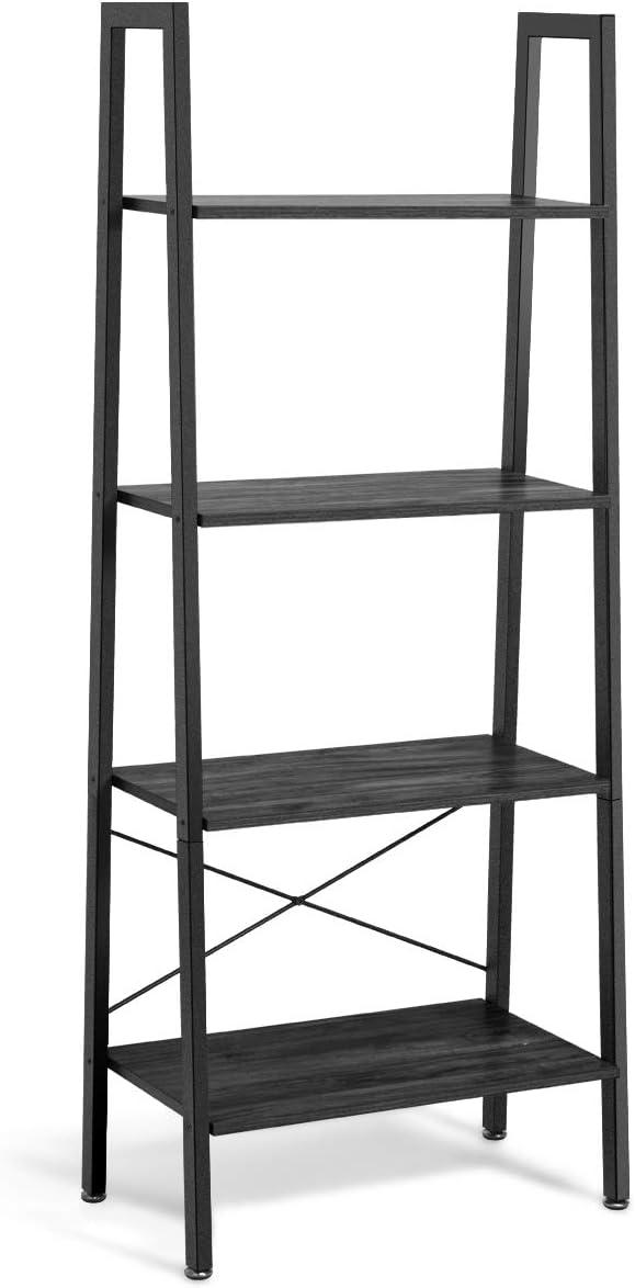 Giantex Now free shipping Ladder Shelf New Free Shipping 4-Tier Industrial Bookshelf Sh Storage Rack