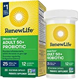 Renew Life® Adult Probiotic - Ultimate Flora™ Adult 50+ Probiotic Supplement - Shelf Stable, Gluten, Dairy & Soy Free - 25 Billion CFU - 30 Vegetarian Capsules