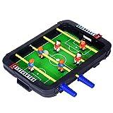 LLZH Mini Juego de Mesa de Futbolín para Niños en Interiores, Fútbol de Mesa, 2 Bolas, Juegos de Competición, para la Noche de Juegos en Familia,4 Bar