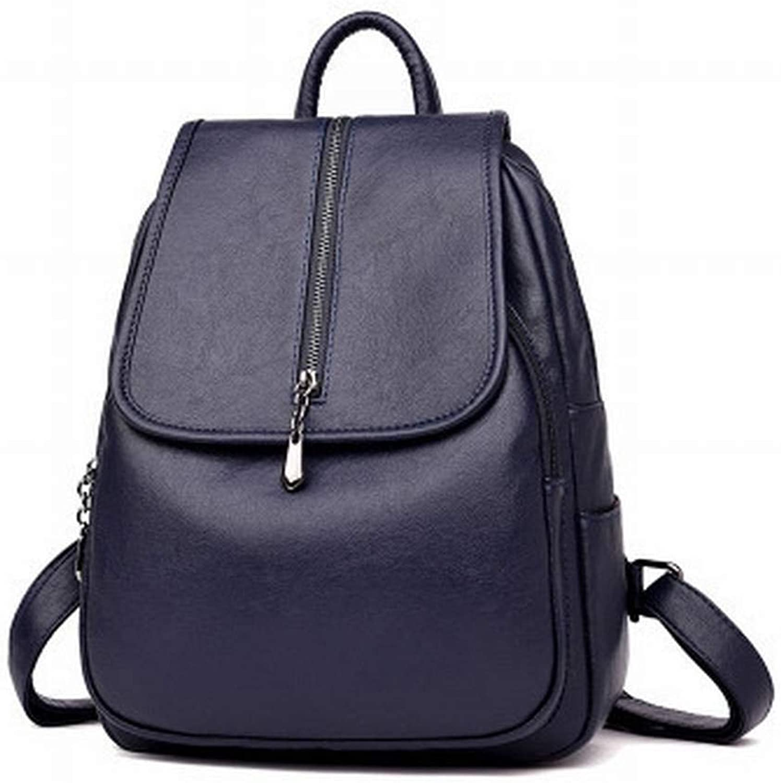 Betrothales Laptop Rucksack England Mode Schaffell Rucksack Leder Handtaschen Groe Rucksack College Style Student Tasche (Farbe   Colour, Größe   One Größe)