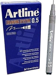 Artline EK235 Drawing System Pen 0.5 mm - Black (Pack of 12)