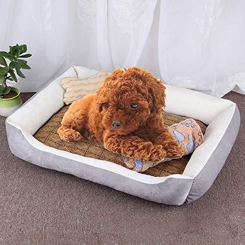 Haustier Big Memory-Foam-Hundebett, orthopädisches Hundebett und Sofa (mit abnehmbarem Deckel) und einen Hundeknochen Spielzeug als Geschenke Größe: XL, 90 × 70 × 15 cm (Schwarz Grau)