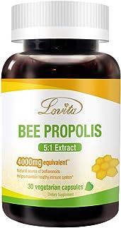 Lovita Bee Propolis Capsule 4000mg Equivalent, Immune Support, 5:1 Concentrate, Natural Propolis Extract, 30 Vegetarian Ca...