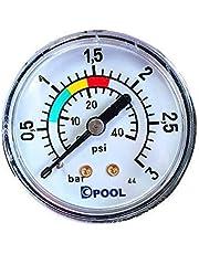 well2wellness® Pool Manometer/Waterdrukmeter 1/8 Inch (022524)