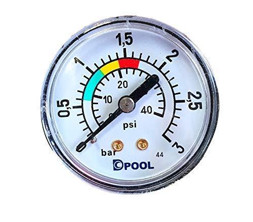 well2wellness® Pool Manometer Wasser Druckmesser 1/8 Zoll 0-6 bar