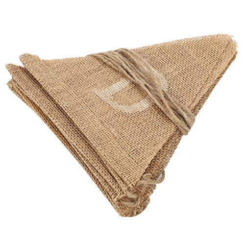 Tomanbery Party Banner Portable Just Married Flag Burlap Pennant Flag Charming Comfortable Party Hanging Banner Reusable for Valentine's Day Props Wedding Party